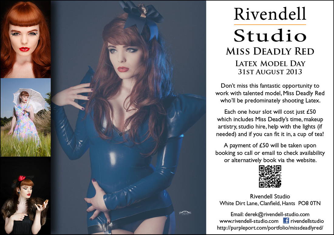 Miss Deadly Red Latex Day at Rivendell Studio